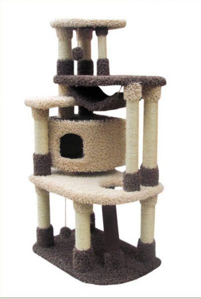 Многоярусный домик для кошки
