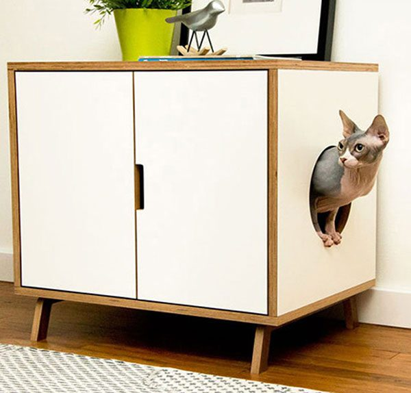 Домик для кошки из тумбочки