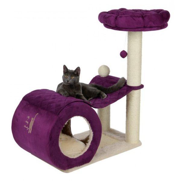 фиолетовый игровой комплекс для кошки