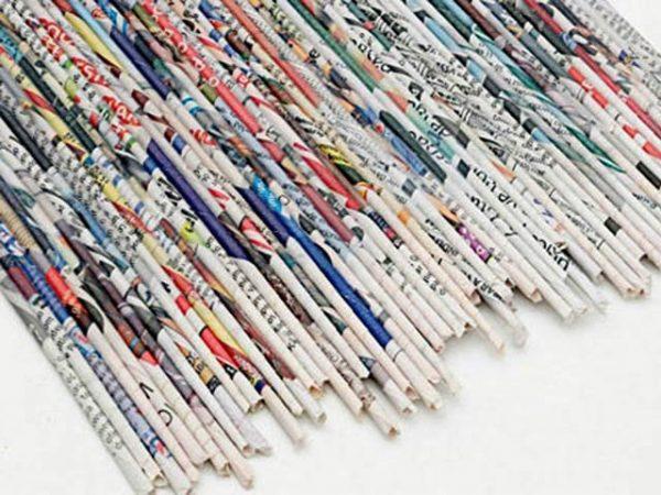 Домик из газетных трубочек. Шаг 1