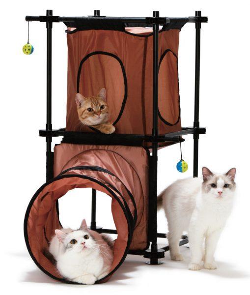 Игровой комплекс для кошек из ткани