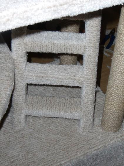 Игровой комплекс для кошки. Шаг 15. Лестница