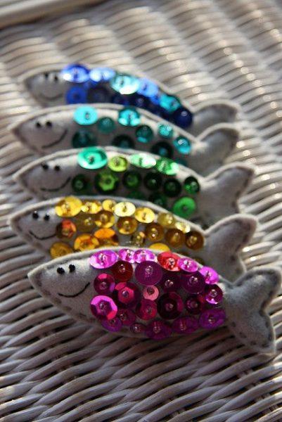 игрушки для кошек рыбки с пайетками