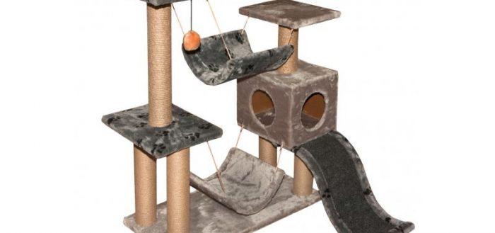 кошачий комплекс из серого велюра