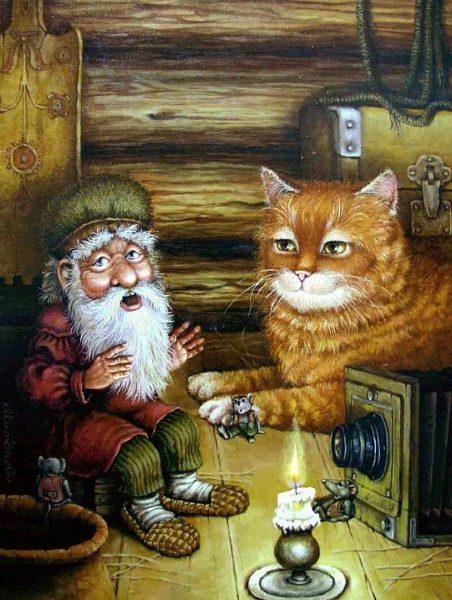 кошка и домовой