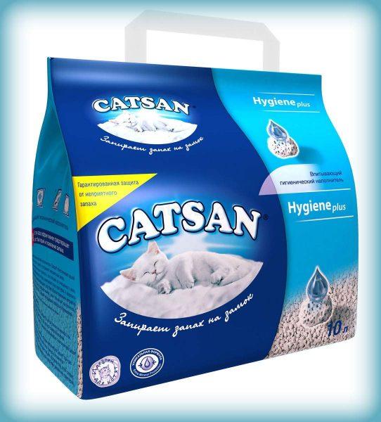 наполнитель Катсан для котят в синем пакете