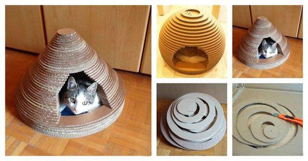 Пирамида из картонных колец