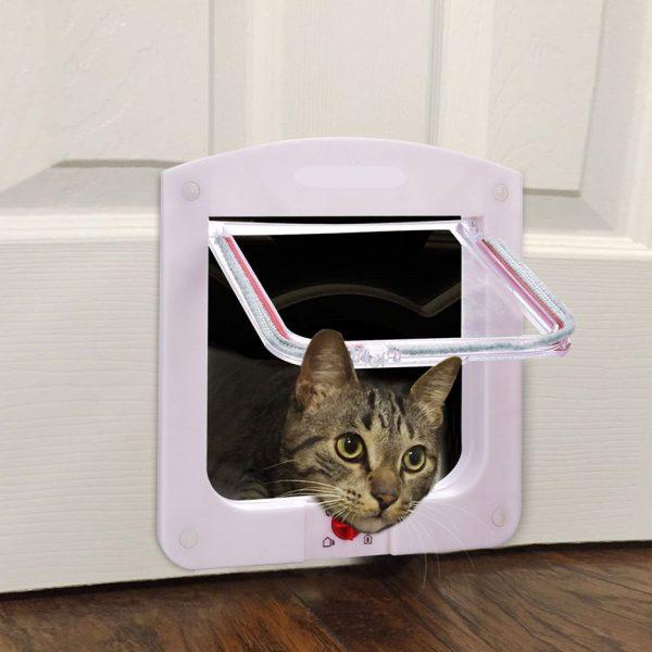 розовая врезная дверца с прозрачной створкой