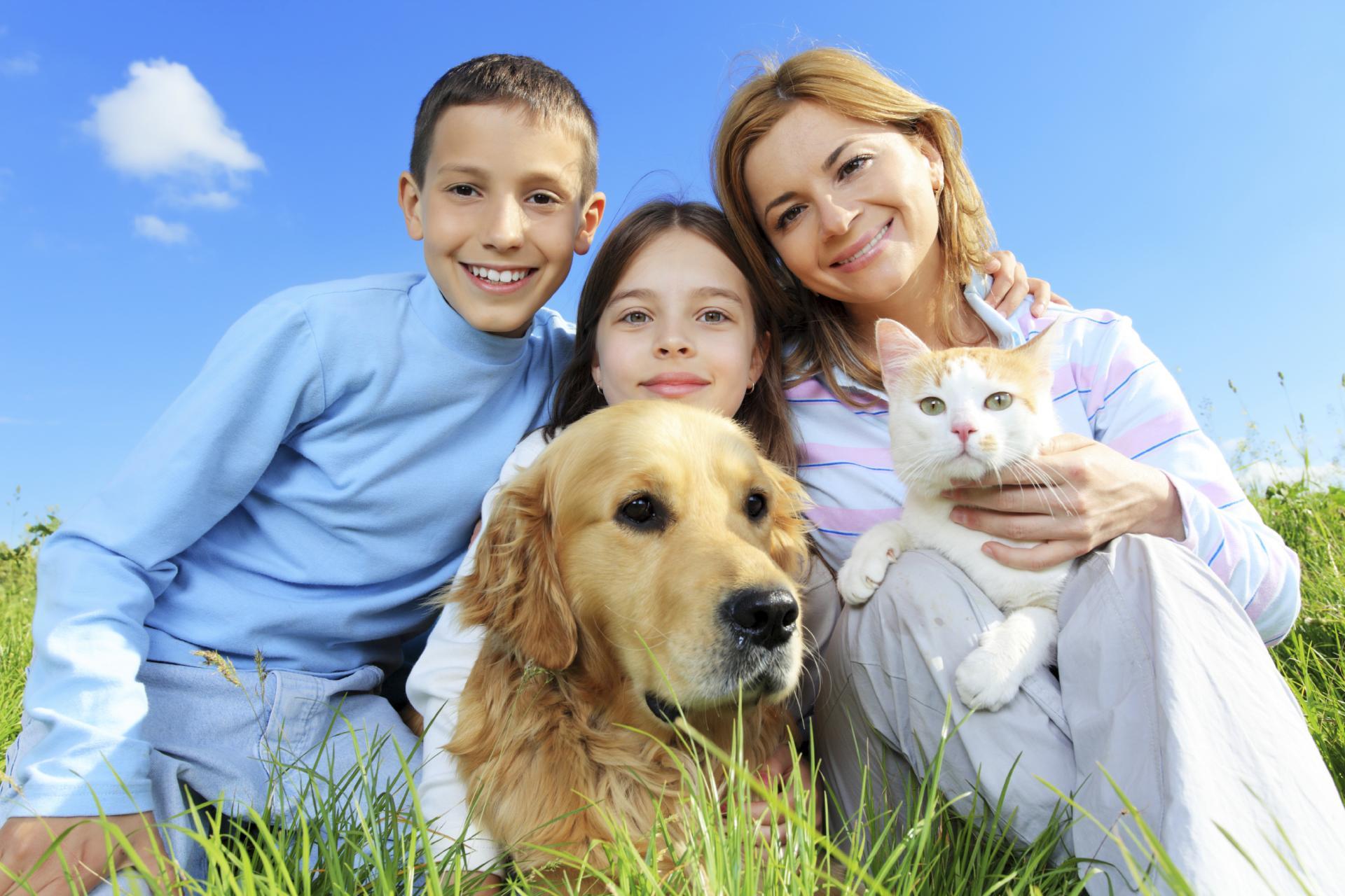 Семья с собакой картинка для детей
