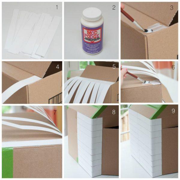 Домик из картонной коробки. Шаг 2