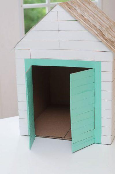 Домик из картонной коробки. Шаг 4