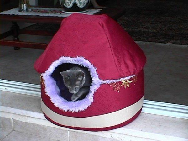 Домик для кошки из ткани. Шаг 4