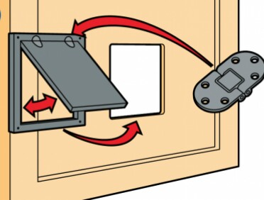 Способ крепления двери на шарнире