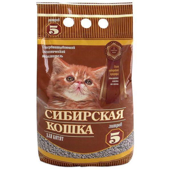 впитывающий наполнитель для котят в коричневой упаковке
