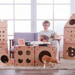 Жилой комплекс из коробок для кошки