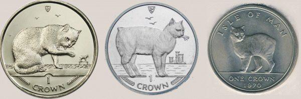 Монеты с кошкой мэнкс