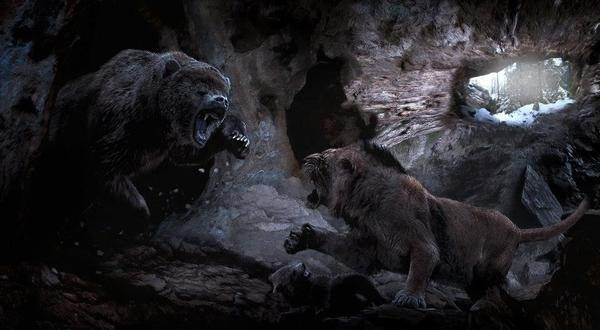 Сражаются древние хищники