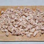 нарезанное мясо курицы