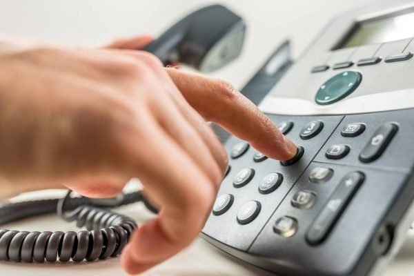 Стационарный телефон с кнопками