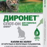 Капли Диронет от глистов и внешних паразитов для кошек