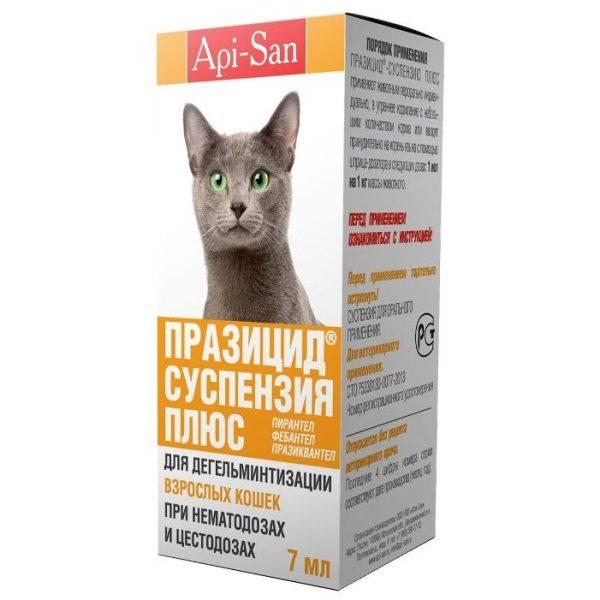 Суспензия от глистов для котят празицид