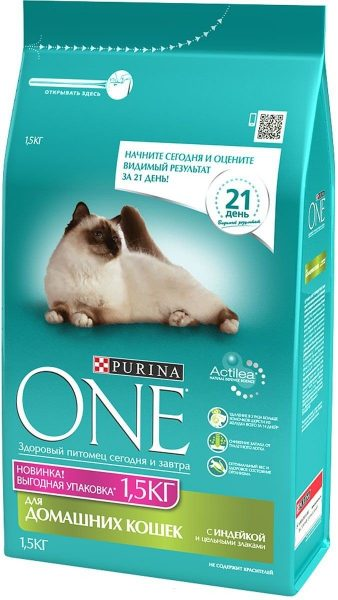 Упаковка корма Purina One