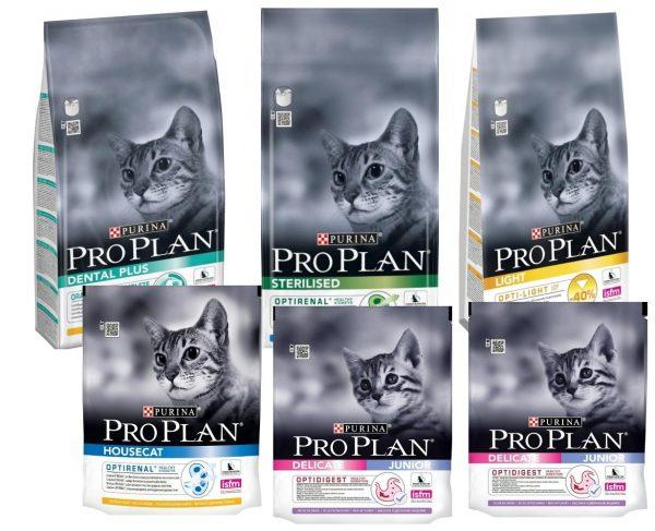 Шесть пакетов с кормом «Проплан»