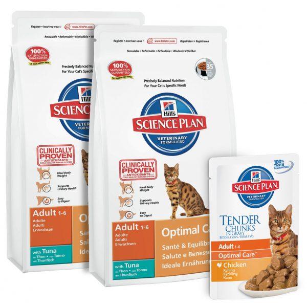 Сухой и влажный корм «Хиллс» для взрсолых кошек