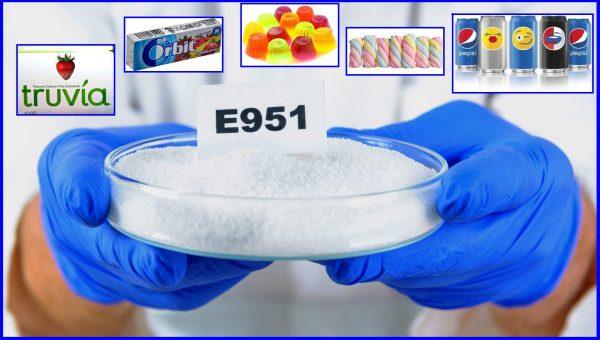 Пищевая добавка E951 в чашке Петри