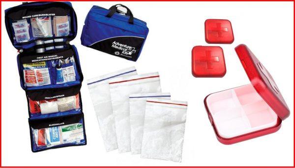 Ветеринарная аптечка, пакеты с zip-замком и контейнеры для лекарств