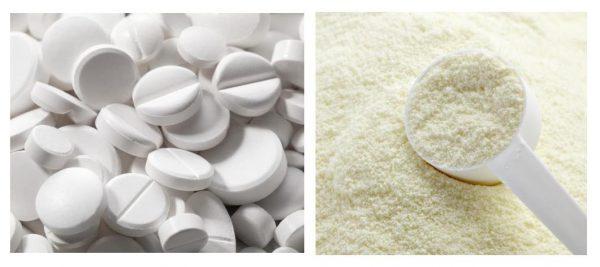 Белые таблетки и лактоза