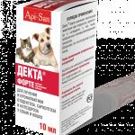 Упаковка акарицидного препарата для кошек и собак Декта Форте