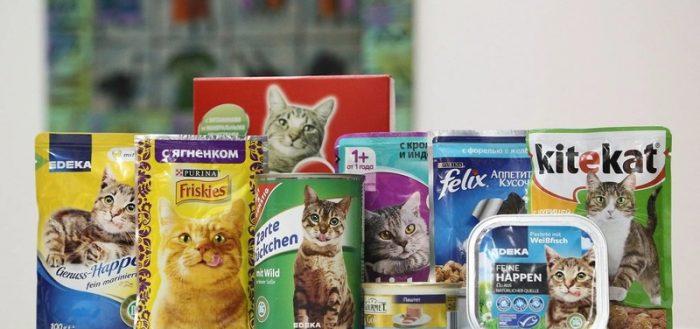 Корма для кошек экономкласса