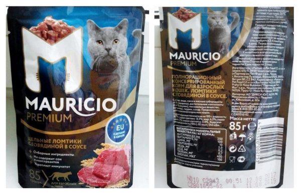 Влажный корм Mauricio premium