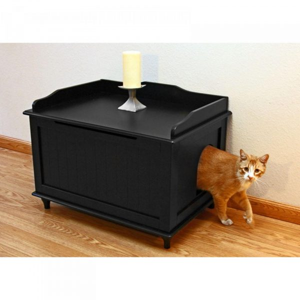 Домик для кошки внутри тумбы