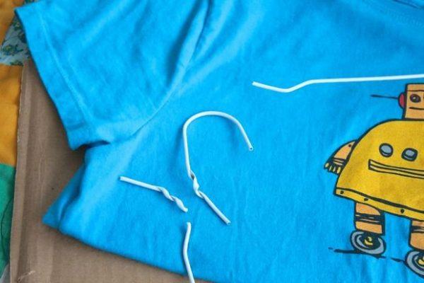Палатка из футболки. Шаг 1