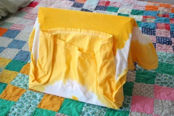 Палатка из футболки. Шаг 10