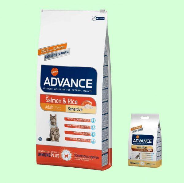 Корма Advance Sensitive и Adult Sensitive