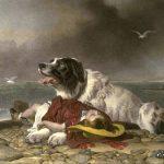 Картина Э. Ландсира «Спасённая»