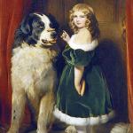 Картина Э. Ландсира «Принцесса Мария Аделаида из Кембриджа с ньюфаундлендом Нельсоном»
