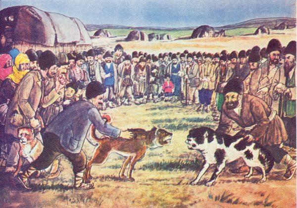 Рисунок — собачьи бои