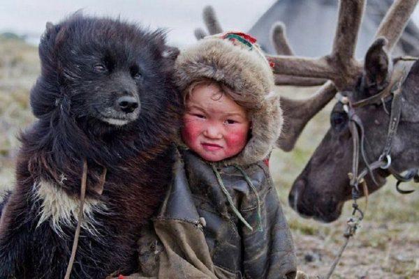 Лайка с ребёнком