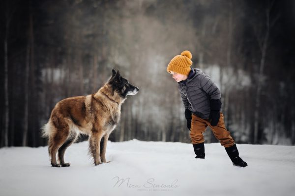 Тервюрен и ребёнок