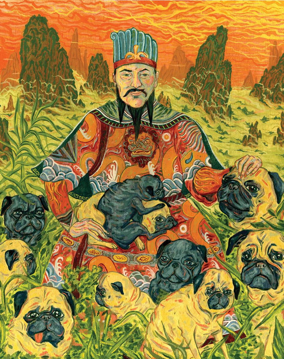портрет малфоя мопс в китае картинки собирал грибы