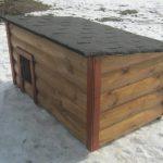 Будка с односкатной крышей